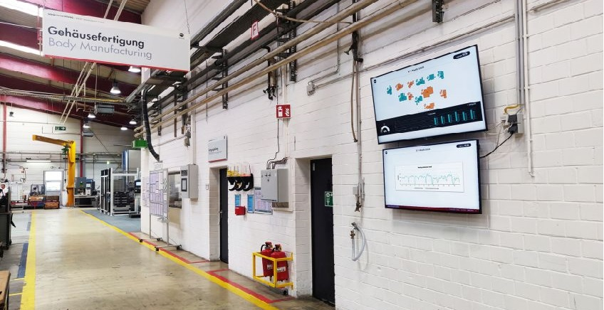 The screen shows 3d Signals' analytics in the production floor